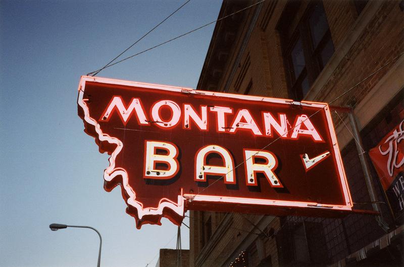 Neon Sign for the Montana Bar